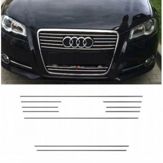 AUDI A3 8PA 8P S3 - Chrome Grille Kit 3M Tuning