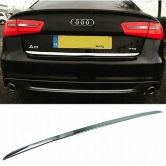 Audi A6 C7 Sedan - CHROME Rear Strip Trunk Tuning Lid 3M...