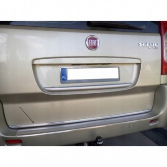 VW TOURAN III 5T1 15 - CHROME Rear Strip Trunk Tuning Lid 3M Boot