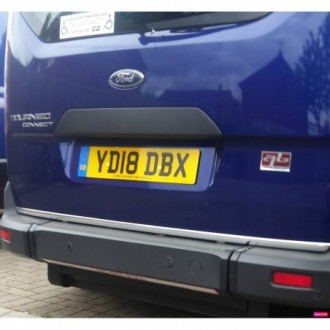 Ford Tourneo Connect - CHROME Rear Strip Trunk Tuning Lid...