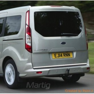 Ford Tourneo Courier - CHROME Rear Strip Trunk Tuning Lid 3M Boot