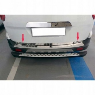 Ford Tourneo Courier - CHROME Rear Strip Trunk Tuning Lid...