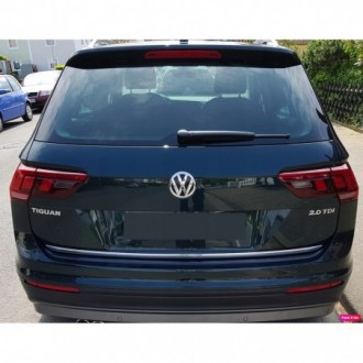 VW Golf Sportsvan - CHROME Rear Strip Trunk Tuning Lid 3M Boot