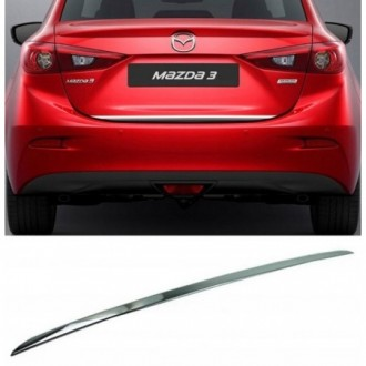 Mazda 3 III Sedan 13 - CHROME Rear Strip Trunk Tuning Lid...