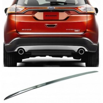 Ford EDGE 2014 - CHROME Rear Strip Trunk Tuning Lid 3M Boot