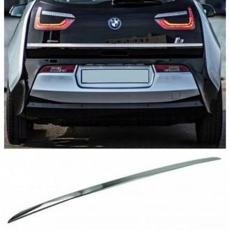 BMW i3 I01 2013 - CHROME Rear Strip Trunk Tuning Lid 3M Boot