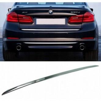 BMW 5 G30 Sedan - CHROME Rear Strip Trunk Tuning Lid 3M Boot