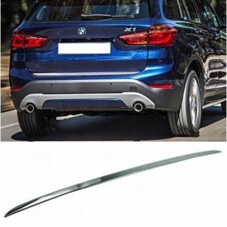 BMW X1 F48 2014 - CHROME Rear Strip Trunk Tuning Lid 3M Boot