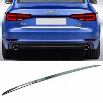 Audi A4 B9 Sedan - CHROME Rear Strip Trunk Tuning Lid 3M...
