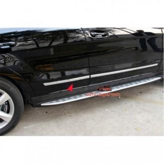 Mitsubishi Outlander II Listwy CHROM Boczne Drzwi