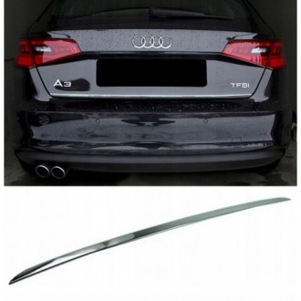 Audi A3 V8 - CHROME Rear Strip Trunk Tuning Lid 3M Boot