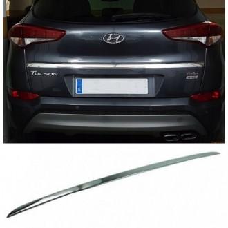 Hyundai TUCSON 2015 - CHROME Rear Strip Trunk Tuning Lid...