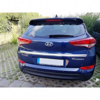 Hyundai i20 II 2014 - CHROME Rear Strip Trunk Tuning Lid 3M Boot