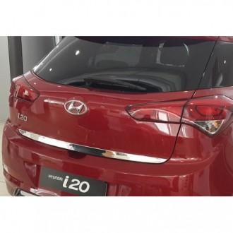 Hyundai i20 II 2014 - CHROME Rear Strip Trunk Tuning Lid...