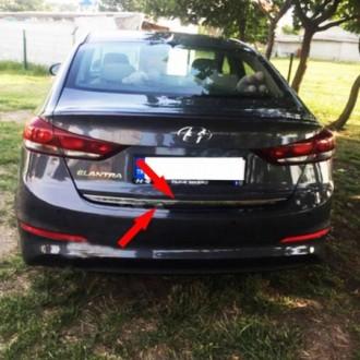 Hyundai ELANTRA 2017 - CHROME Rear Strip Trunk Tuning Lid...