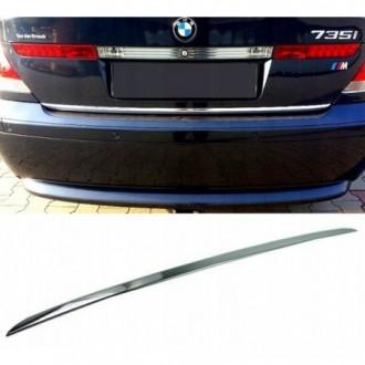 BMW 7 E65 E66 E67 - CHROME Rear Strip Trunk Tuning Lid 3M...