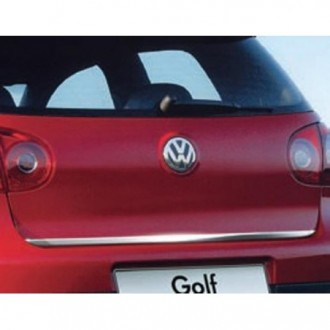 VW GOLF V 5 HB - CHROME Rear Strip Trunk Tuning Lid 3M Boot