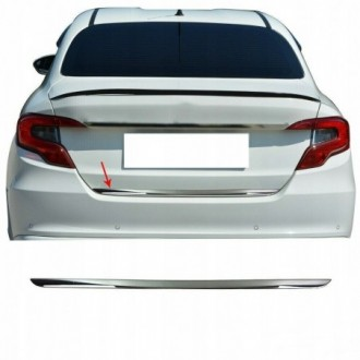 Seat ALTEA XL 5P5, 5P8 - CHROME Rear Strip Trunk Tuning Lid 3M Boot