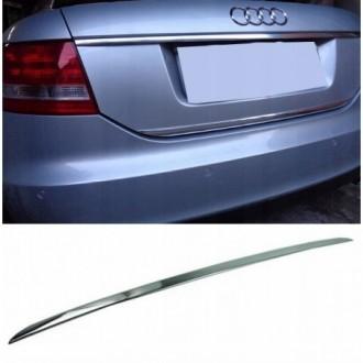 Audi A6 C6 Sedan - CHROME Rear Strip Trunk Tuning Lid 3M...