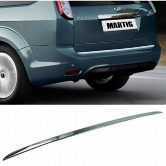 Ford FOCUS II Kombi - CHROME Rear Strip Trunk Tuning Lid...