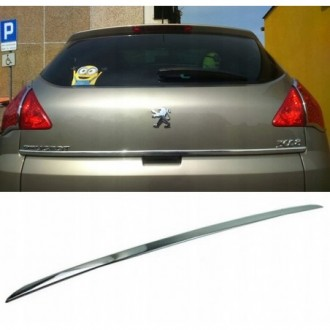 Peugeot 3008 09 - CHROME Rear Strip Trunk Tuning Lid 3M Boot