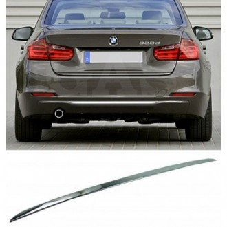 BMW 3 Series F30 - CHROME Rear Strip Trunk Tuning Lid 3M...