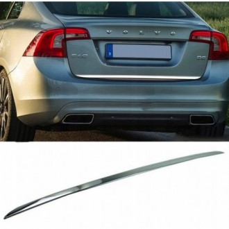 Volvo S60 - CHROME Rear Strip Trunk Tuning Lid 3M Boot