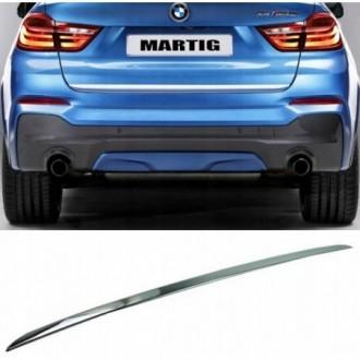 BMW X4 F26 - CHROME Rear Strip Trunk Tuning Lid 3M Boot