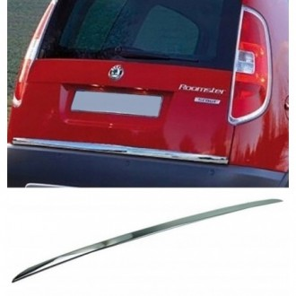 SKODA ROOMSTER - CHROME Rear Strip Trunk Tuning Lid 3M Boot