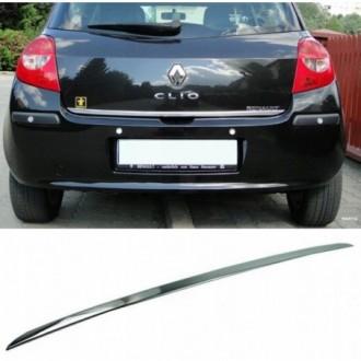 Renault CLIO III - CHROME Rear Strip Trunk Tuning Lid 3M...