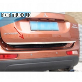 PEUGEOT 5008 - CHROME Rear Strip Trunk Tuning Lid 3M Boot