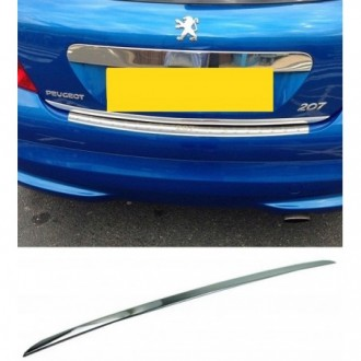 Peugeot 207 HB - CHROME Rear Strip Trunk Tuning Lid 3M Boot