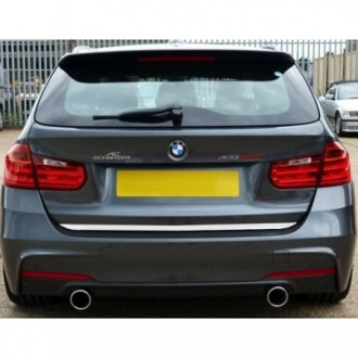 BMW 3 E46 Kombi - CHROME Rear Strip Trunk Tuning Lid 3M Boot