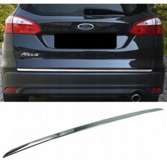 Ford FOCUS III Kombi - CHROME Rear Strip Trunk Tuning Lid...