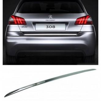 PEUGEOT 308 II HB - CHROME Rear Strip Trunk Tuning Lid 3M...