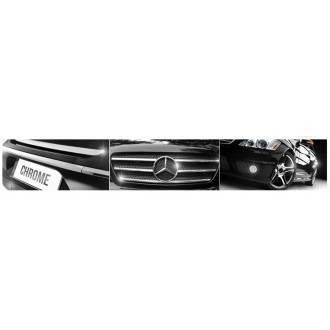 Mercedes A klasa W168 97-04 - CHROME Rear Strip Trunk Tuning Lid 3M Boot