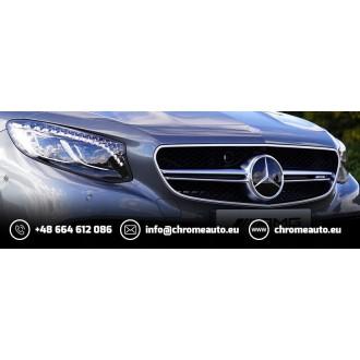 OPEL ASTRA MK IV G HB Sedan - Chrom-Zierleiste Heckleiste 3M Tuning Chromleiste Heckklappe