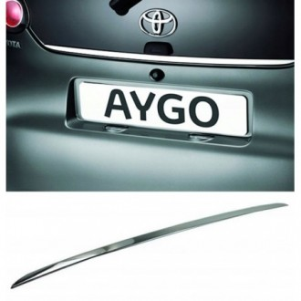 Toyota AYGO I - CHROME Rear Strip Trunk Tuning Lid 3M Boot