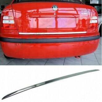 Skoda Octavia I HB Sedan - CHROME Rear Strip Trunk Tuning...