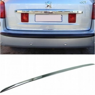 Peugeot 407 SW - CHROME Rear Strip Trunk Tuning Lid 3M Boot