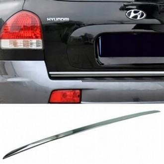 Hyundai Santa Fe I - CHROME Rear Strip Trunk Tuning Lid...