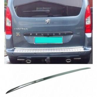 Peugeot PARTNER II 08 - CHROME Rear Strip Trunk Tuning...