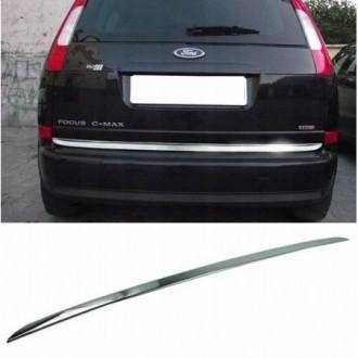 Ford FOCUS C-MAX - CHROME Rear Strip Trunk Tuning Lid 3M...