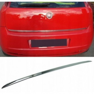 Fiat GRANDE PUNTO - CHROME Rear Strip Trunk Tuning Lid 3M...