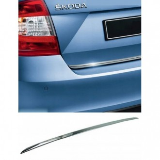 Skoda RAPID Liftback Sedan - CHROME Rear Strip Trunk...