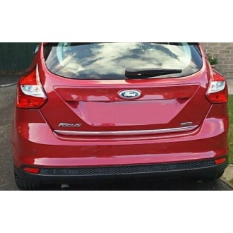 FORD FIESTA MK 6 - CHROME Rear Strip Trunk Tuning Lid 3M Boot