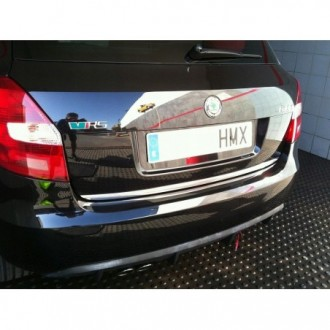 SKODA OCTAVIA I Kombi 96-04 - CHROME Rear Strip Trunk Tuning Lid 3M Boot