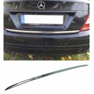 Mercedes C Klasa W204 - CHROME Rear Strip Trunk Tuning...