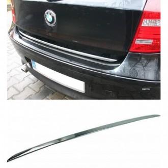 BMW 1 E81 E87 118 - CHROME Rear Strip Trunk Tuning Lid 3M...