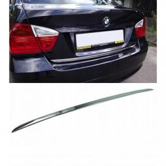 BMW 3 E90 - CHROME Rear Strip Trunk Tuning Lid 3M Boot